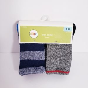 NEW CIRCO Crew Socks 6 Pair Boys 4T 5T